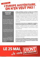 EE 2104 - Tract Front de gauche 1er mai - L'Europe austéritaire on n'en veut pas !